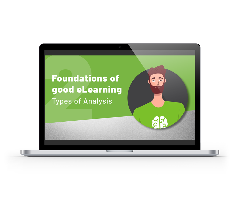 Foundations of Good eLearning intro page previewed on a laptop