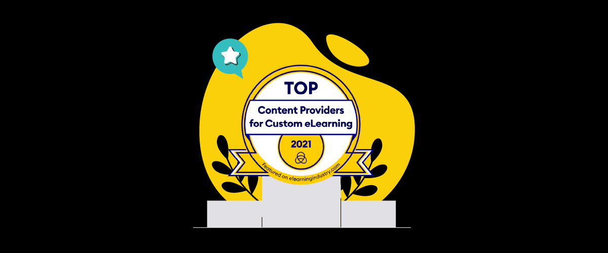 eWyse award badge: Top Content Provider for Custom eLearning 2021