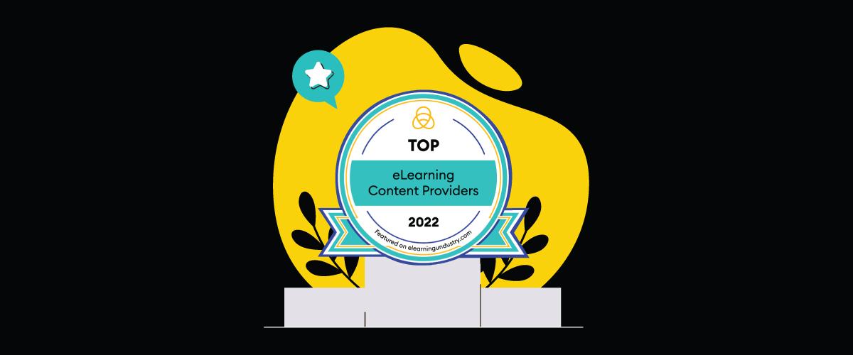 eWyse Top eLearning Content Development Companies Award Badge